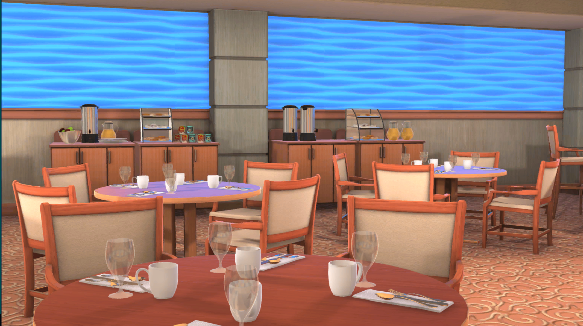 Empty-Hotel Restaurant