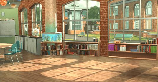 Empty-Middle School Classroom